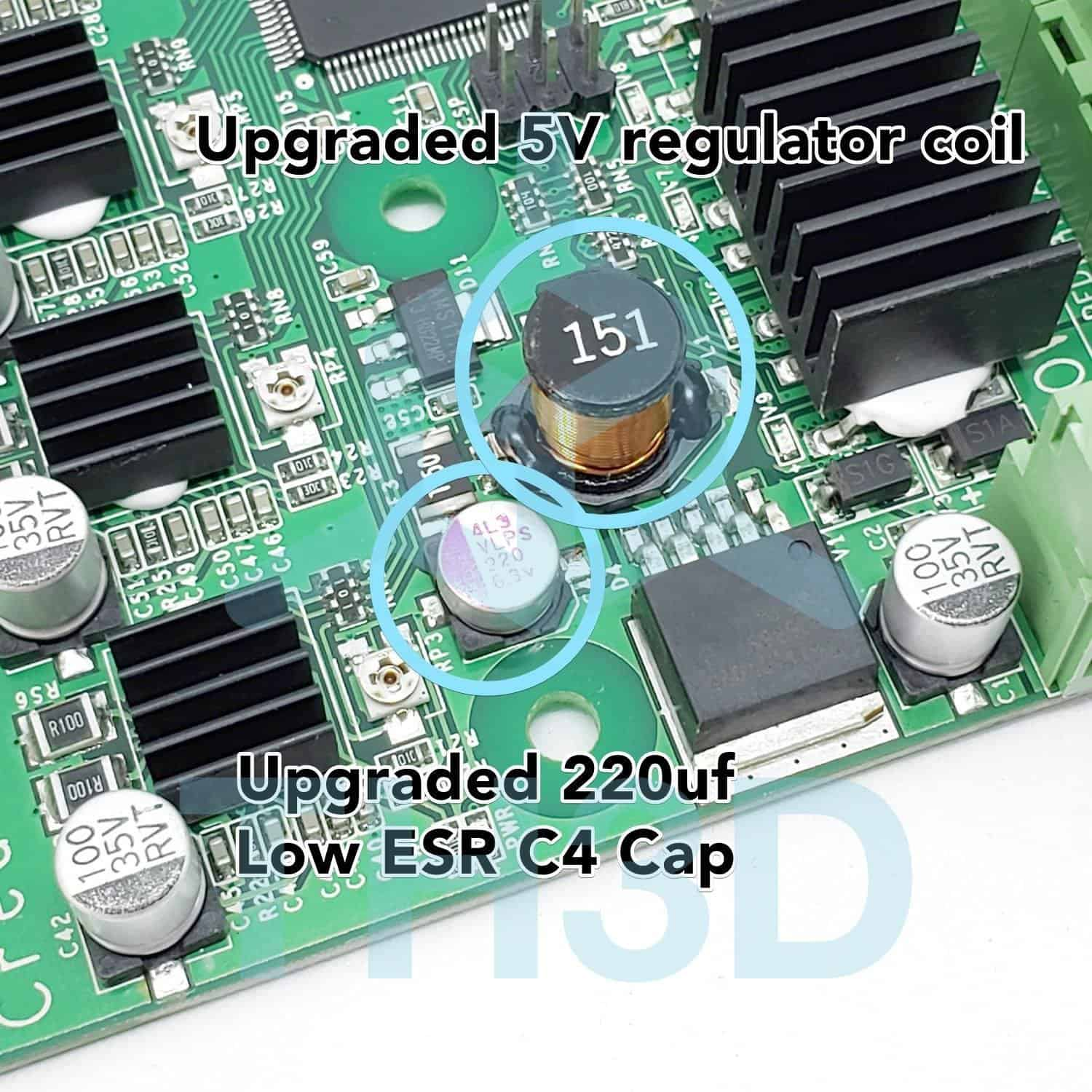 Creality Dual Extruder Upgrade Board (V2 1/V2 2) - 2nd E Motor & Cable  Included - CR-10/CR-10S/CR-20/Ender 3 - TH3D Studio LLC