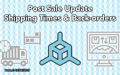 Post Sale Update – Shipping Times & Back-orders