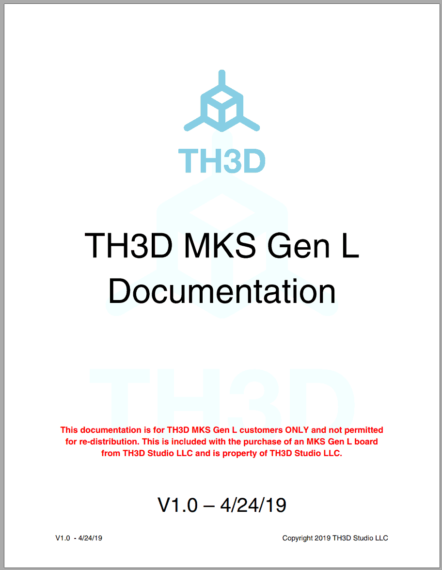 TH3D MKS Gen L Installation Guide (Instant PDF Download)
